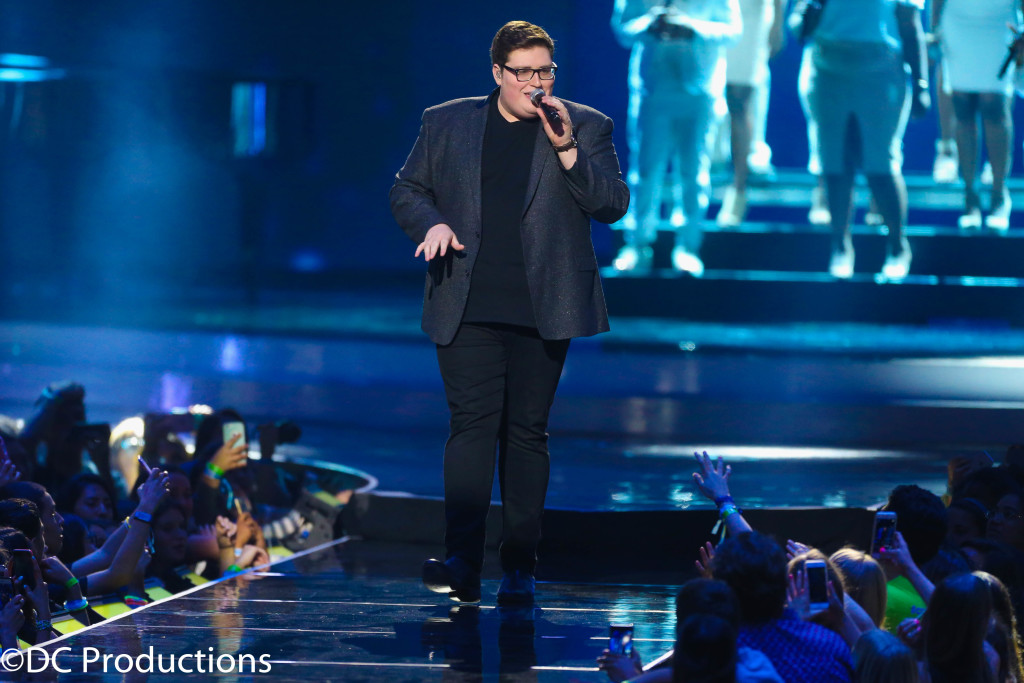 """INGLEWOOD, CA - APRIL 07: Singer Jordan Smith performs onstage at WE Day California 2016 at The Forum on April 7, 2016 in Inglewood, California. (Photo by Frederick M. Brown/Getty Images for WE Day)"""