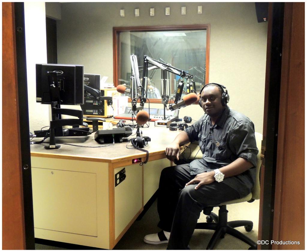 Davies Chirwa at Night Light Live Radio Station.