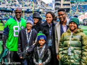 Nate Burleson raises 12th Man Flag