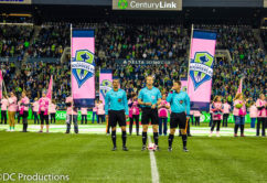 Seattle Sounders participate in Breast Cancer Awareness Campaign