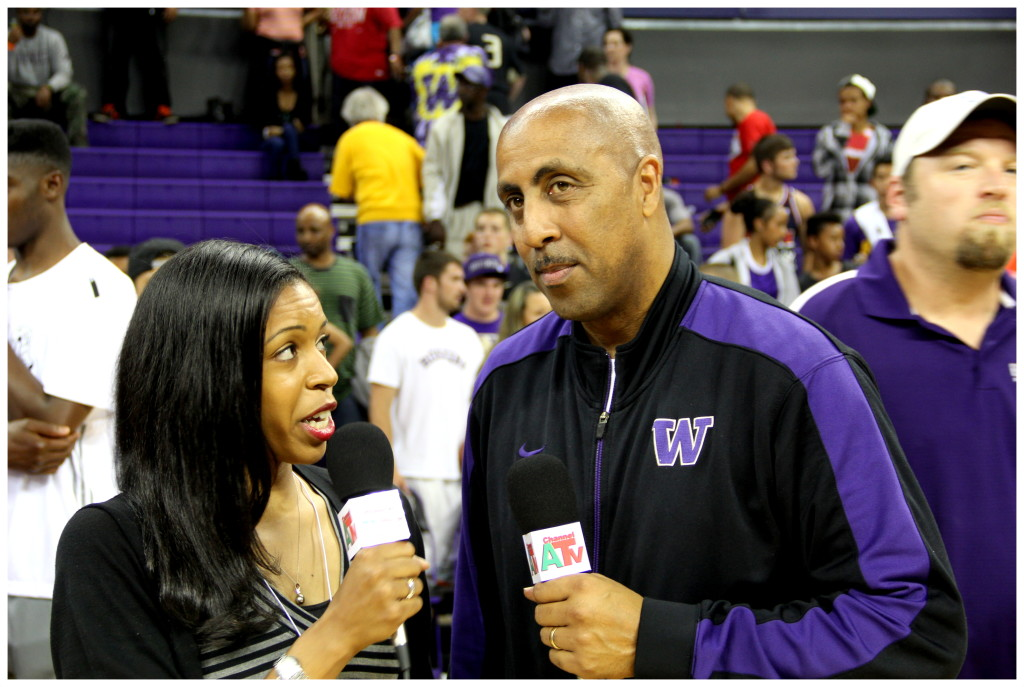 CHANNEL A TV Crystal Brown with Coach Lorenzo Romar