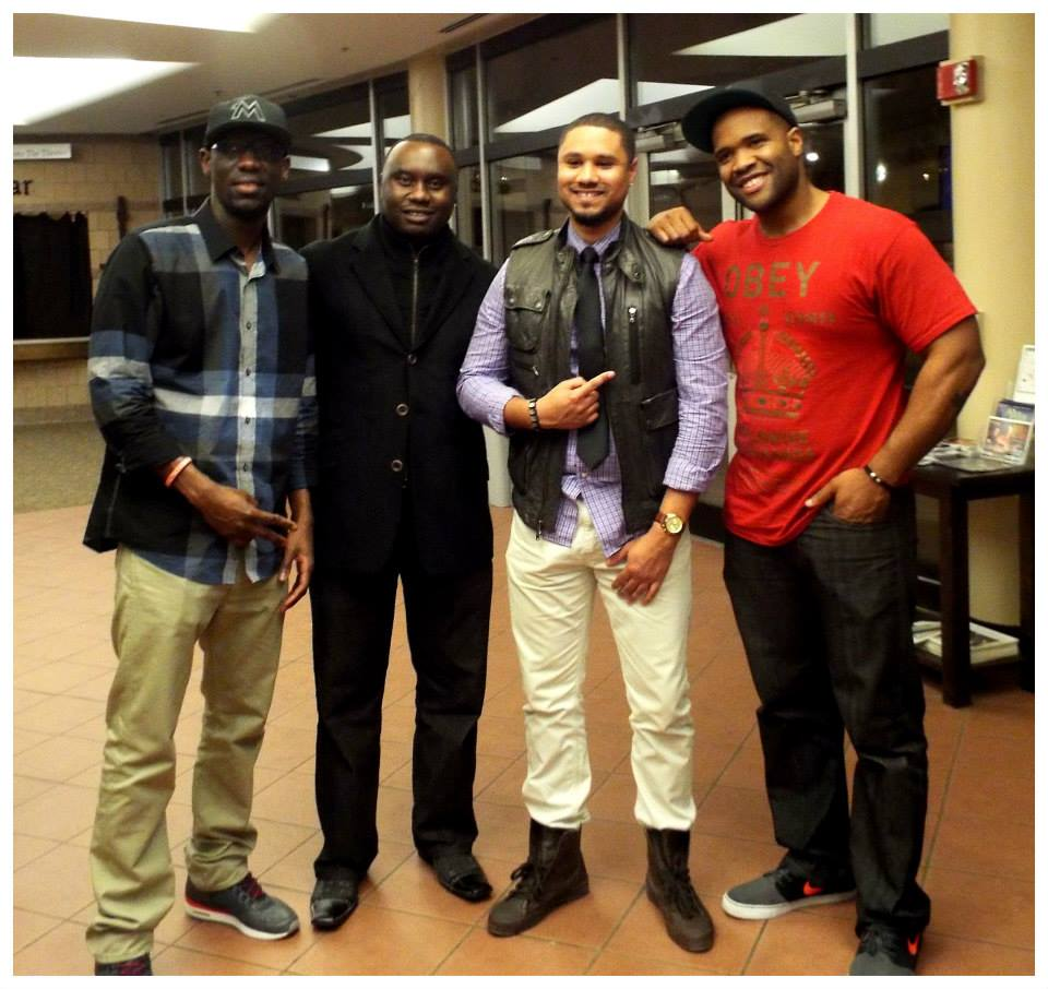 Channel A TV Founder Davies Chirwa with Artists Black Violin and Jon Etiquette.