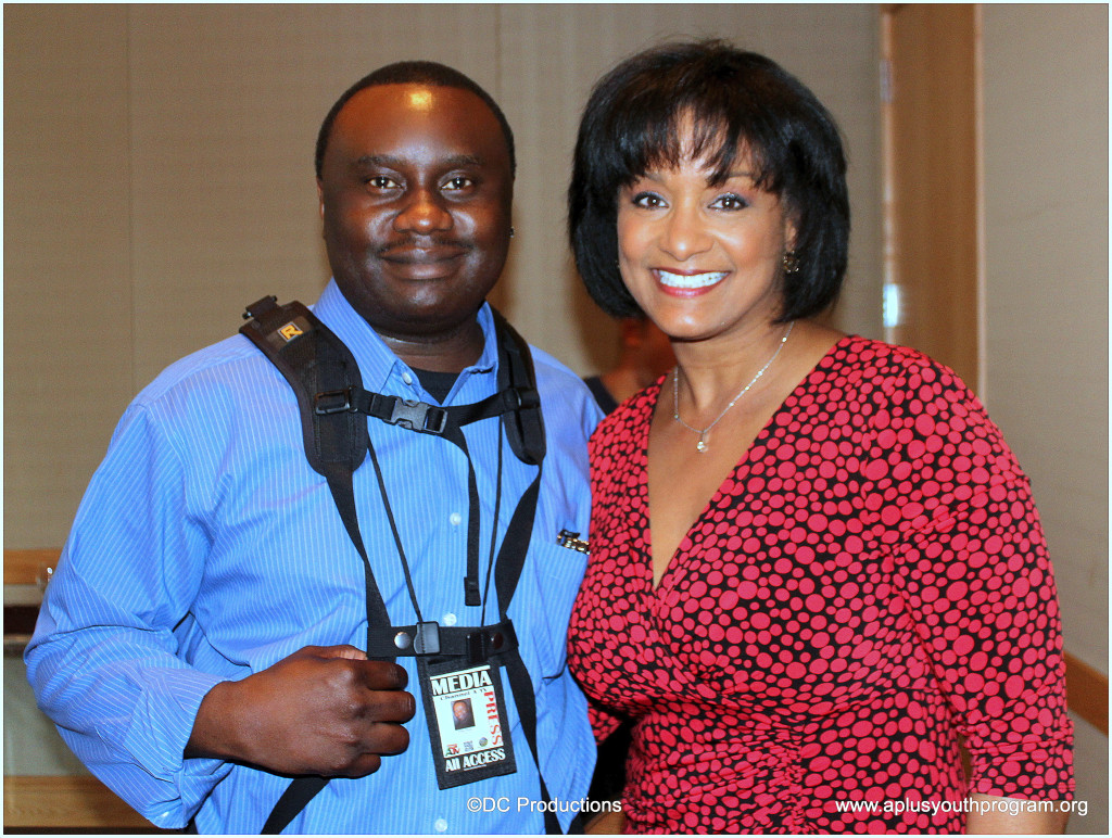 Channel A TV Founder, Davies Chirwa with Media Anchor Joyce Taylor.