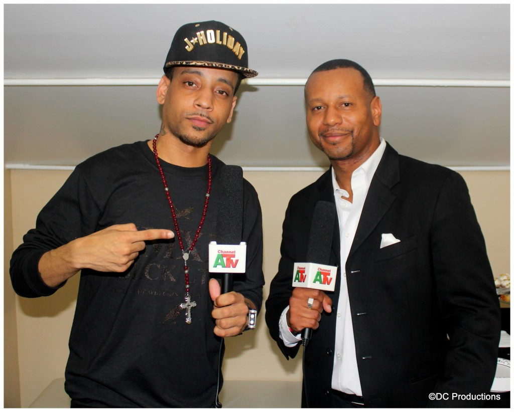 Channel A TV Host RJ (Robert Joseph) with R & B Super-Star J. Holiday
