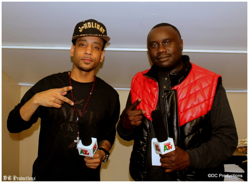 Channel A TV Founder Davies Chirwa with R & B Super-Star J. Holiday