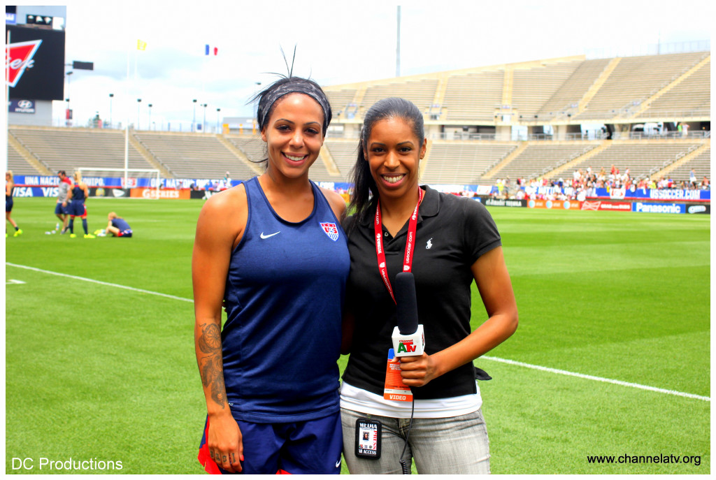 Channel A TV Crystal Brown and Sydney Leroux