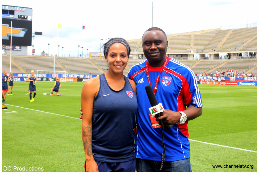 Channel A TV Founder, Davies Chirwa with Sydney Leroux