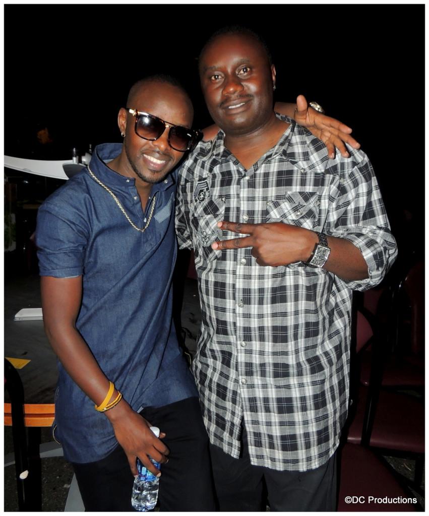Eddy Kenzo with Davies Chirwa