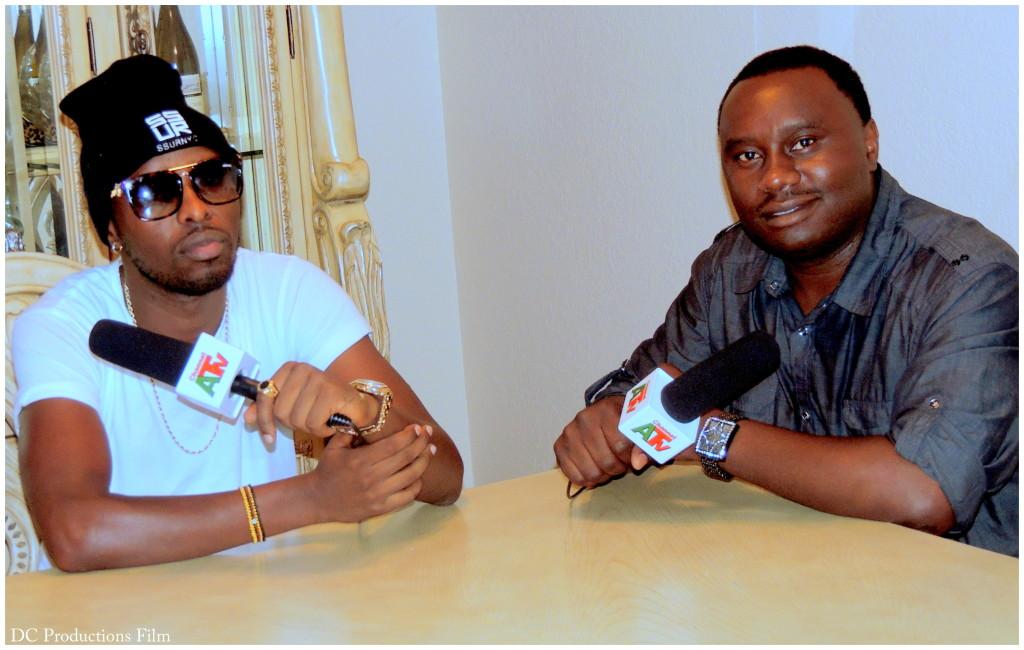 Ugandan Music Superstar Eddy Kenzo with Channel A TV Founder Davies Chirwa