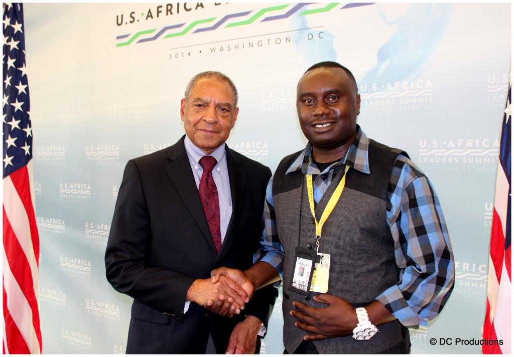 U.S Ambassador George E. Moose with Channel A TV Founder Davies Chirwa