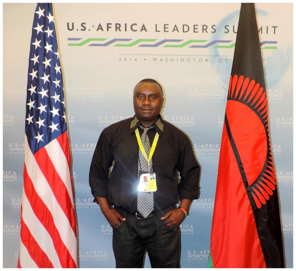 Davies Chirwa at the U.S - Africa Leaders Summit