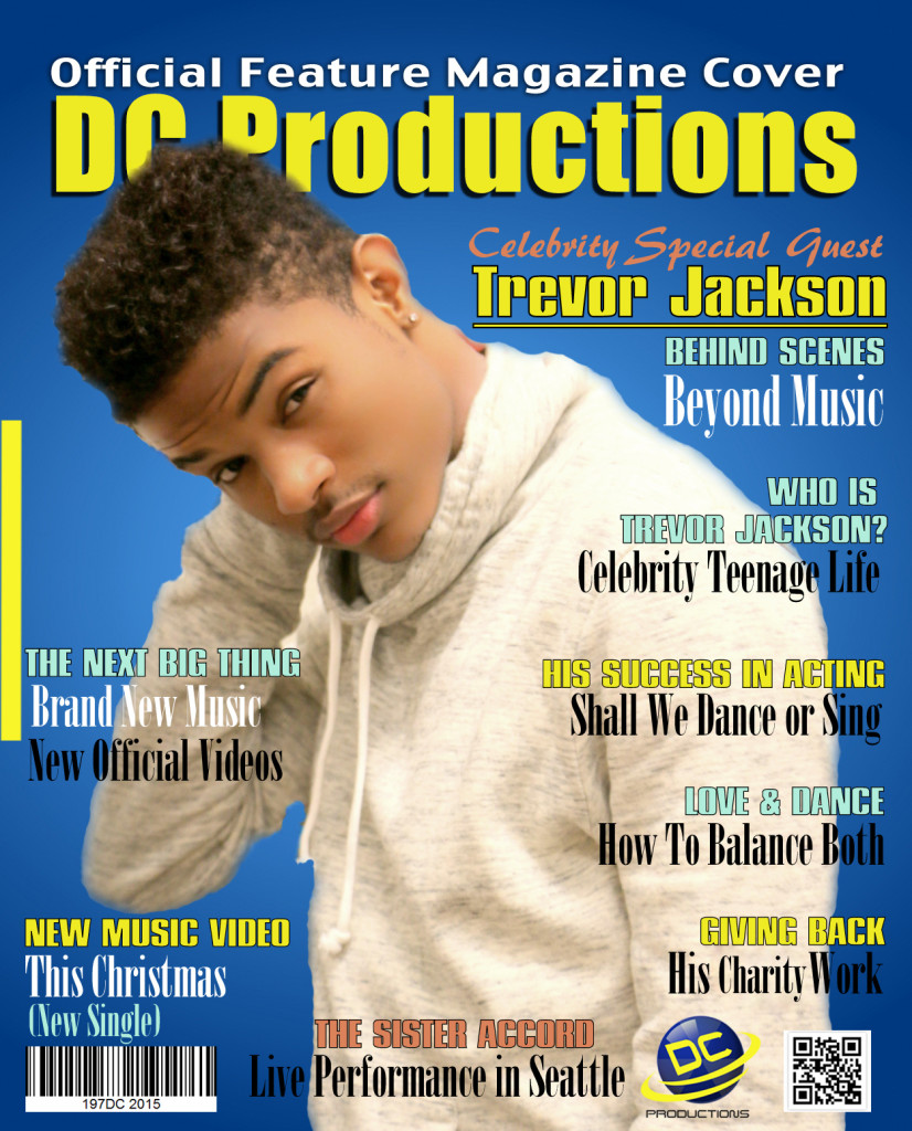 Trevor Jackson on DC Productions Cover Magazine
