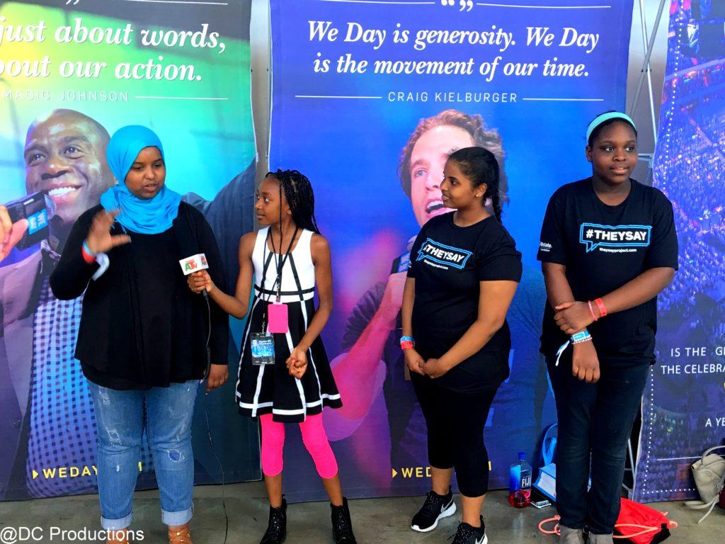 Thandi Chirwa youth testimonial interviews at We Day in Seattle